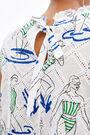 White Swim Girls A-line blouse