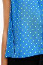 Fluid blue Dots blouse