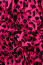 Fuchsia animal print bandana