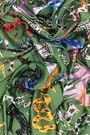 Pañuelo animales art brut verde