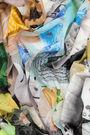 Chal collage digital art brut aguamarina