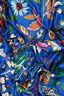 Blue wild flowers scarf