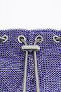 XS Klein blue mesh bucket bag