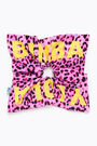 Pink Animal print hair tie