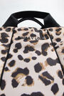 Bolso shopper S nylon acolchado Animal print