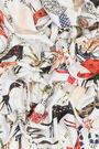 Light grey art brut animal scarf