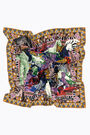 Yellow floral collage scarf