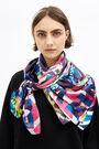 Pink London brutalism scarf