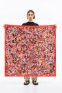 Red garden scarf