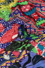 Retro orange patchwork shawl