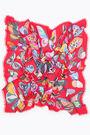 Chal mariposas grandes rojo