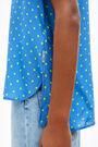 Fluid blue Dots shirt